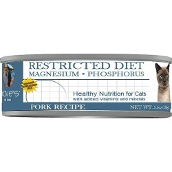 Dave's Pet Food Restricted Diet Magnesium & Phosphorus Grain-Free Pork Recipe Canned Cat Food, 5.5-oz, case of 24 found on Bargain Bro from  for $38.19