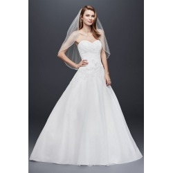 e9348ac23d90 As-Is Strapless Tulle Wedding Dress with Lace Style AI10012384. David's  Bridal