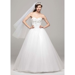 Strapless Tulle Ball Gown with Beaded Bodice Style AI10012354