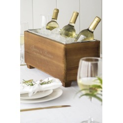 Personalized Wooden Wine Trough Style 2294