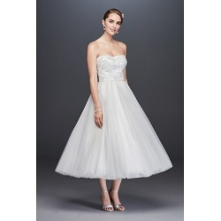 213b152c5b84 As-Is Lace Appliqued Tulle Wedding Dress Style AI10012697. David's Bridal