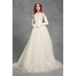 9e4d566cc816 White by Vera Wang Bow-Back Halter Wedding Dress Style VW351419 found on MODAPINS  from
