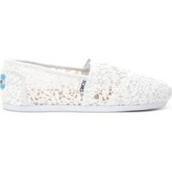 TOMS Lace Leaves Classic Slip-On Shoes Style 10008033