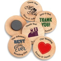 Personalized Wooden Magnets Style 8639000 found on Bargain Bro from David's Bridal for USD $0.84
