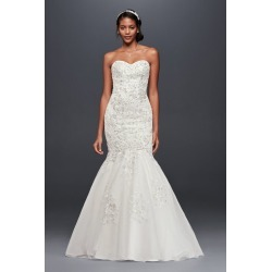 d83727eef7aa As-Is Metallic-Beaded Lace Trumpet Wedding Dress Style AI12010143 found on MODAPINS  from