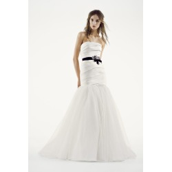 a8a5959ffd02 White by Vera Wang Fit and Flare Wedding Dress Style VW351169 found on MODAPINS  from David's