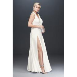 Fame and Partners Plus Size Escala Draped Dress Style USP1040107W