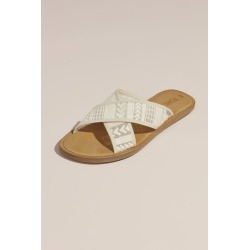 TOMS Embroidered Arrow Crisscross Slip-On Sandals Style 10013447 found on Bargain Bro Philippines from David's Bridal for $17.50