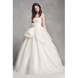 a3031ba91961 White by Vera Wang Lace Illusion Wedding Dress Style VW351315 found on MODAPINS  from David's Bridal
