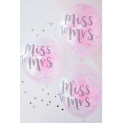12 Inch Pink Miss to Mrs Balloons Pack of 5 Style TB-627 found on Bargain Bro India from David's Bridal for $6.95