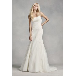 c5efafabdb6e White by Vera Wang Low-Back Wedding Dress Style VW351307 found on MODAPINS  from David's