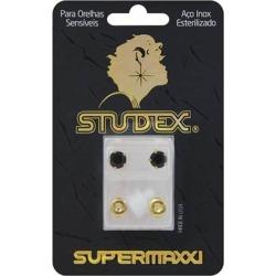 Brinco Studex Supermaxxi Dourado Pedra Preta 1 Unidade found on Bargain Bro from Drogasil for USD $11.25