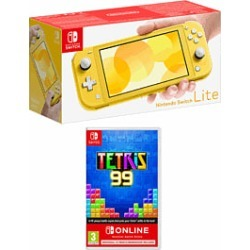 Nintendo Switch Lite Yellow with Tetris 99 and 12 Months Nintendo Switch Online for Switch