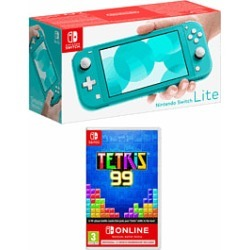 Nintendo Switch Lite Turquoise with Tetris 99 and 12 Months Nintendo Switch Online for Switch