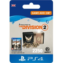 Tom Clancys The Division 2 - 2250 Premium Credits Pack for PlayStation 4