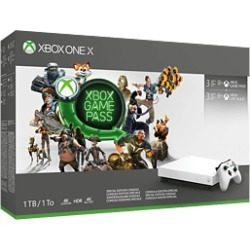 Xbox One X Robot White Special Edition 1TB Console - Starter Bundle for Xbox One