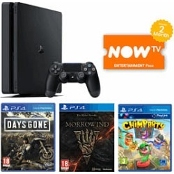 1TB Playstation 4 with Days Gone + The Elder Scrolls Online Morrowind + Chimparty and NOW TV for PlayStation 4 found on Bargain Bro UK from game UK for $352.53