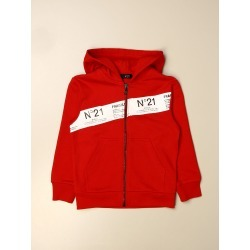 N ° 21 hooded sweatshirt in cotton with logoed band found on MODAPINS from giglio.com us for USD $185.43