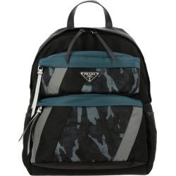 Backpack Nylon Backpack With Prada Triangular Logo And Camouflage Pockets