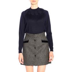 Sweater Miu Miu Wool Sweater With Ruffles