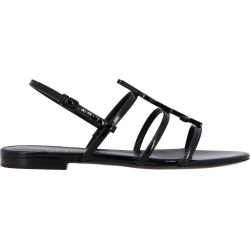 Flat Sandals Saint Laurent Flat Sandal In Leather With Ysl Monogram found on MODAPINS from giglio.com us for USD $730.00