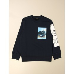 N ° 21 crewneck sweatshirt with print and logo found on MODAPINS from giglio.com us for USD $139.06