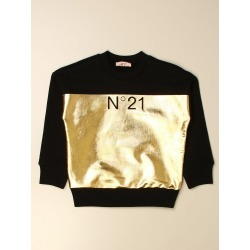 N ° 21 crewneck sweatshirt in cotton with laminated section found on MODAPINS from giglio.com us for USD $139.06