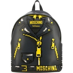 Backpack Moschino Capsule Collection Pixel Backpack In Leather With Biker Print