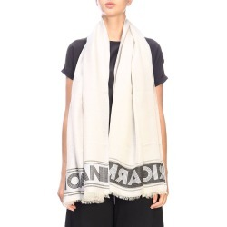 Scarf Emporio Armani Brushed Scarf With Maxi Logo