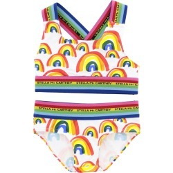 Swimsuit Stella Mccartney Swimsuit With Multicolor Striped Straps And Rainbow Print