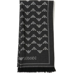 Scarf Emporio Armani Scarf With All-over Eagle Pattern In Jacquard