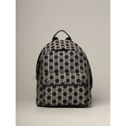 Backpack Balmain Canvas Backpack With All Over Monogram