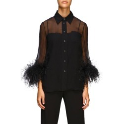 Shirt Prada Veiled Shirt With Feathers