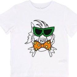 T-shirt Stella Mccartney T-shirt With Fish Print And Glasses-shaped Patch