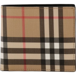 Wallet Burberry Horizontal Wallet In Check Leather