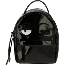 Backpack Chiara Ferragni Mini Flirting Backpack In Patent Leather With Embroidery