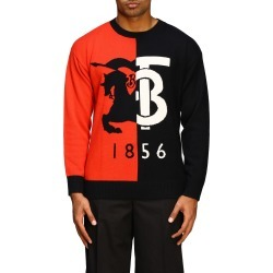 Sweater Burberry Round Neck Cashmere Sweater With 1856 Logo