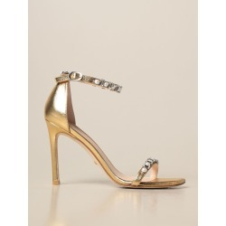 Amelina Stuart Weitzman sandal in laminated leather found on Bargain Bro from giglio.com us for USD $462.41