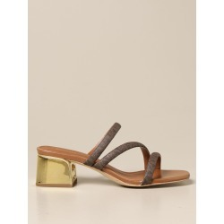 Heeled Sandals MICHAEL MICHAEL KORS Women color Brown found on Bargain Bro from giglio.com us for USD $123.31