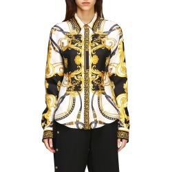 Shirt Versace Silk Shirt With Baroque Print