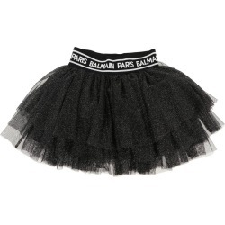 Skirt Balmain Tulle Skirt With Logo