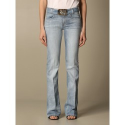 Pinko jeans in used denim with belt and metal buckle found on Bargain Bro India from giglio.com us for $315.00