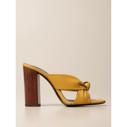 Saint Laurent heeled sandals in leather with knot found on Bargain Bro from giglio.com us for USD $524.06