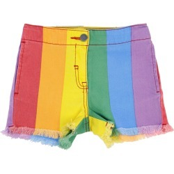 Bermuda Shorts Stella Mccartney Shorts In Rainbow Denim