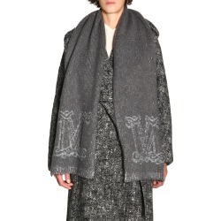Scarf Max Mara Ebori Scarf In Mohair With Sequins And Jacquard Logo