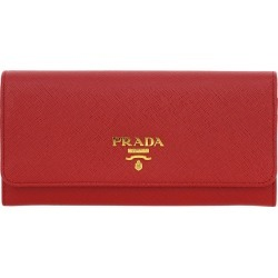 Wallet Prada Wallet In Saffiano Leather With Logo