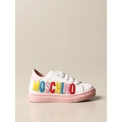 Moschino sneakers in leather with embroidered logo found on Bargain Bro from giglio.com us for USD $173.96