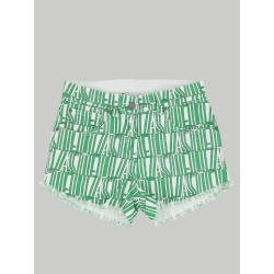 Short Stella Mccartney Shorts With All Over Logo
