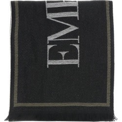 Scarf Emporio Armani Scarf In Jacquard Wool With Logo
