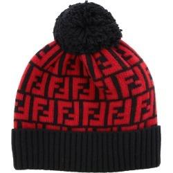 Hat Fendi Wool Hat With Ff Monogram
